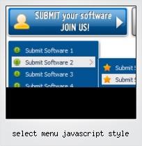 Select Menu Javascript Style
