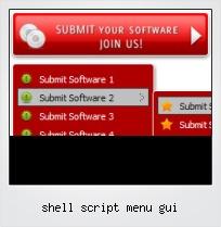 Shell Script Menu Gui