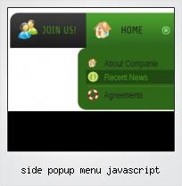 Side Popup Menu Javascript