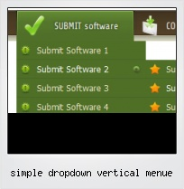 Simple Dropdown Vertical Menue