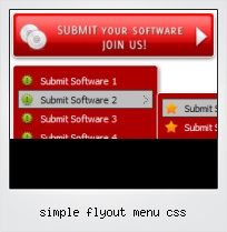 Simple Flyout Menu Css