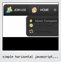 Simple Horizontal Javascript Popup Menu