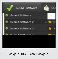 Simple Html Menu Sample