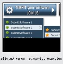 Sliding Menus Javascript Examples