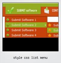 Style Css List Menu