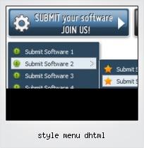 Style Menu Dhtml