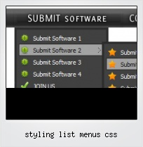Styling List Menus Css