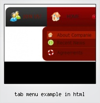 Tab Menu Example In Html