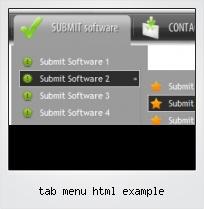 Tab Menu Html Example