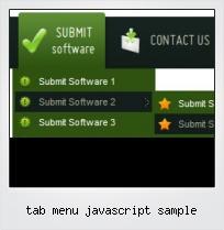 Tab Menu Javascript Sample