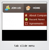 Tab Slide Menu