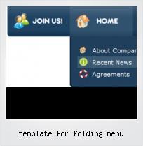 Template For Folding Menu
