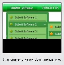 Transparent Drop Down Menus Mac