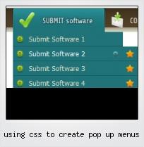 Using Css To Create Pop Up Menus