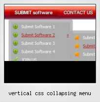 Vertical Css Collapsing Menu