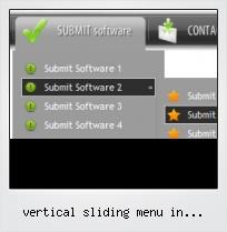 Vertical Sliding Menu In Javascript