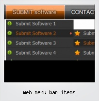 Web Menu Bar Items