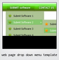 Web Page Drop Down Menu Template