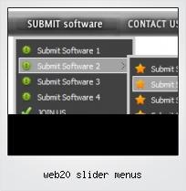 Web20 Slider Menus