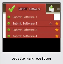 Website Menu Position