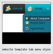 Website Template Tab Menu Style