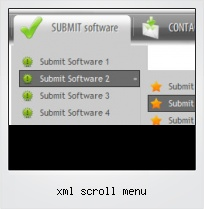 Xml Scroll Menu