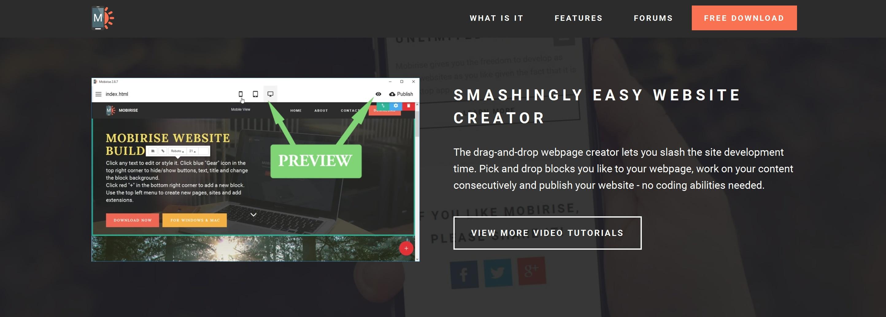 Offline Easy Website Creator Software