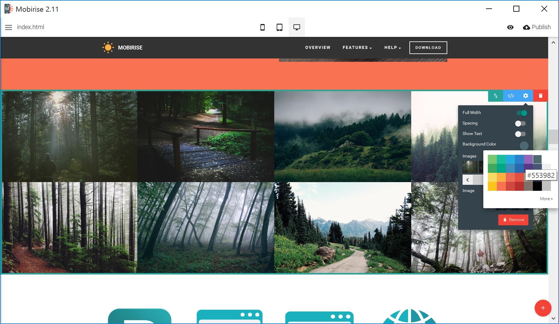 Mobile Simple Website Creator Tool