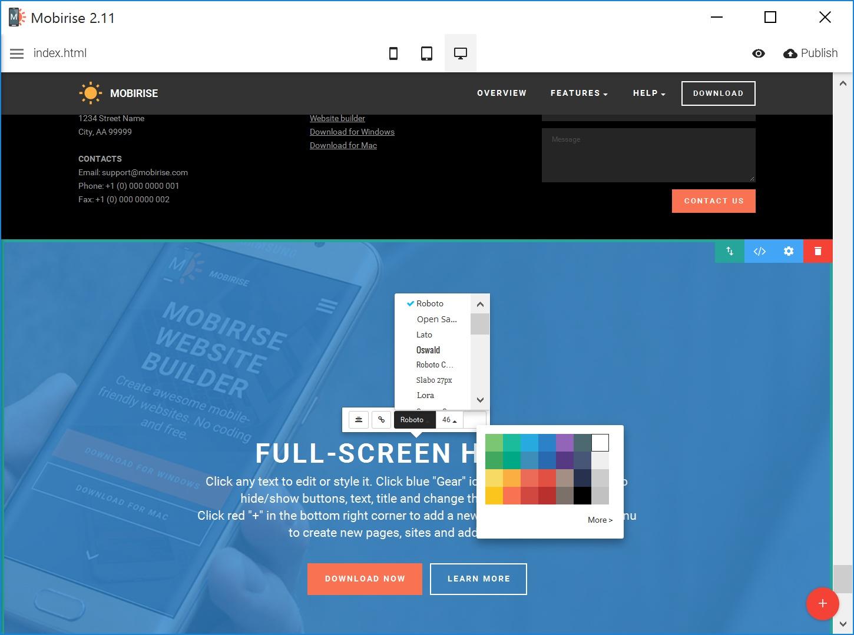Offline Simple Website Creator