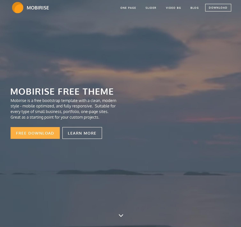 HTML5 Bootstrap Blog Theme