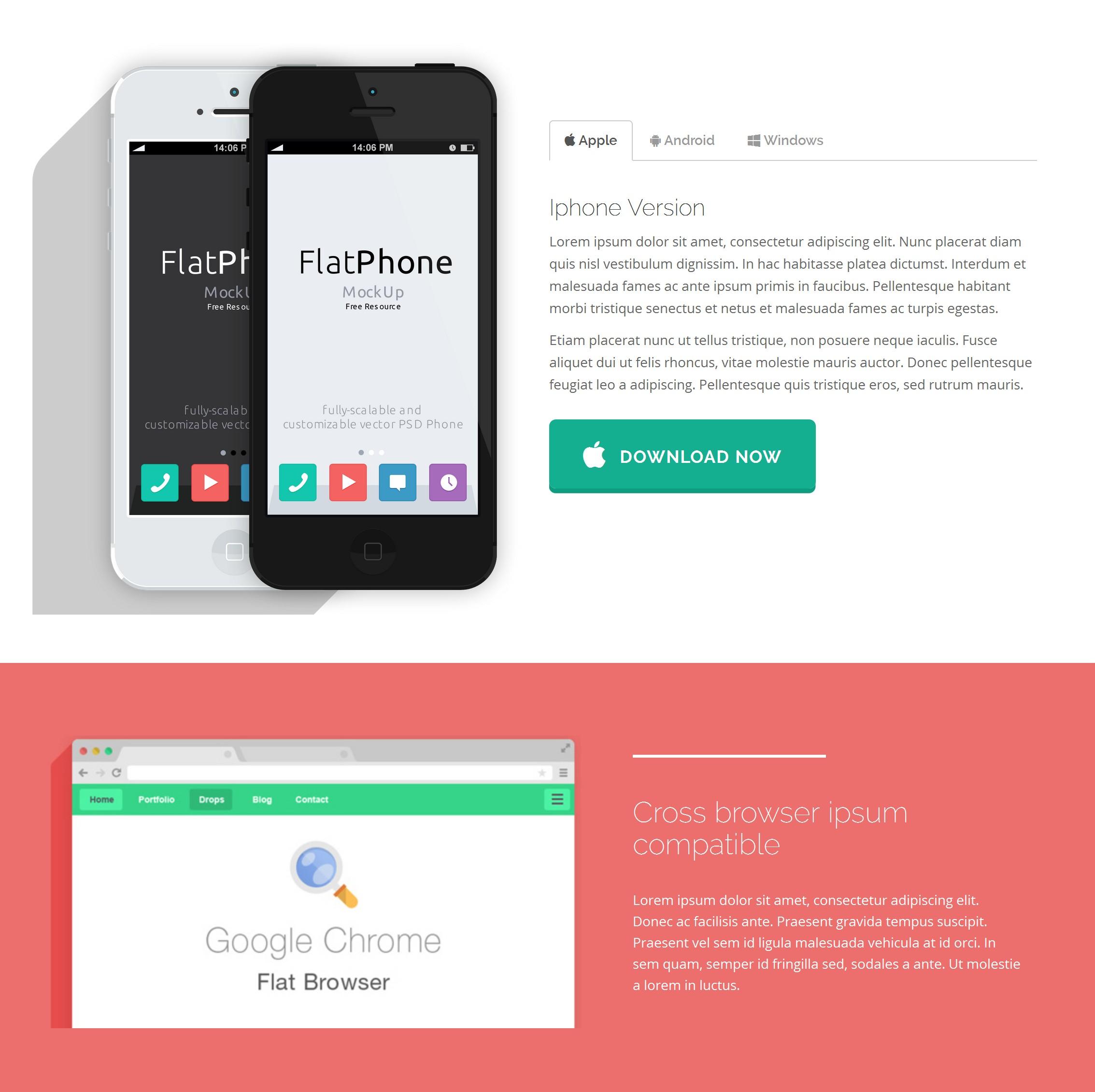 Mobile Bootstrap Real Estate Theme