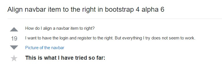 Coordinate navbar item to the right  within Bootstrap 4 alpha 6
