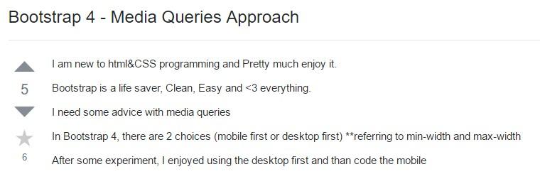 Bootstrap 4 - Media Queries  Technique