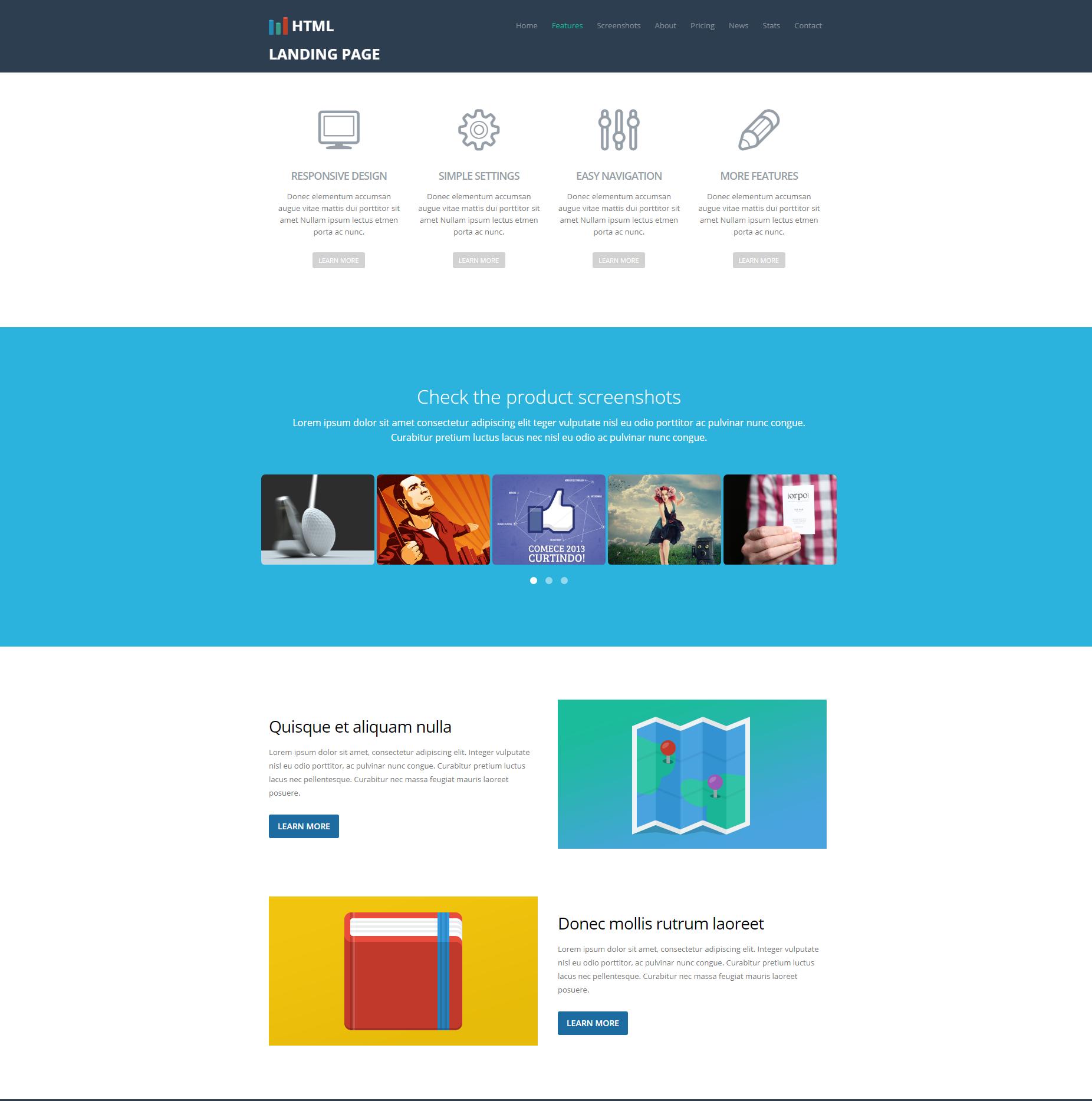 HTML5 Bootstrap Ezyland Templates