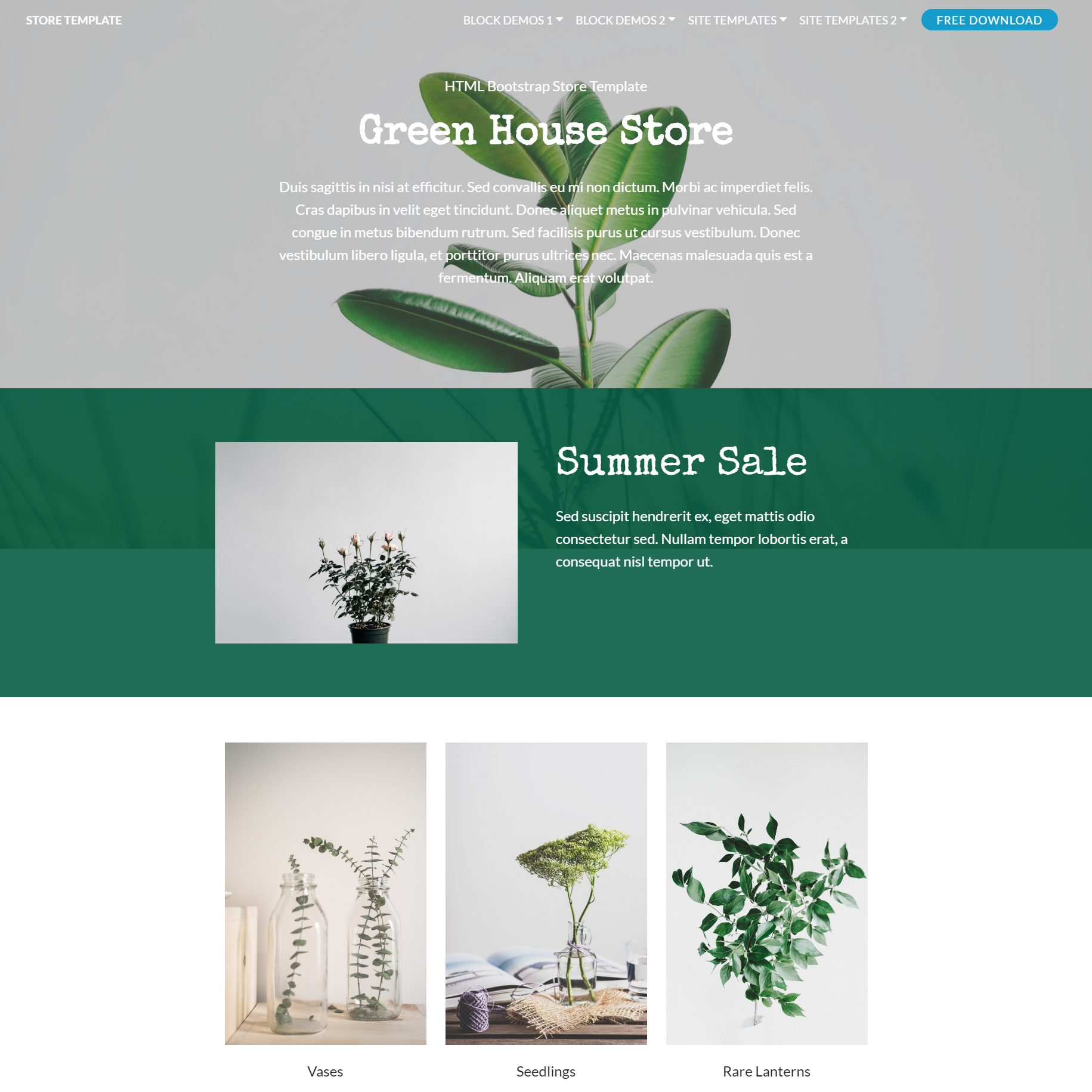 Free Bootstrap Store Themes
