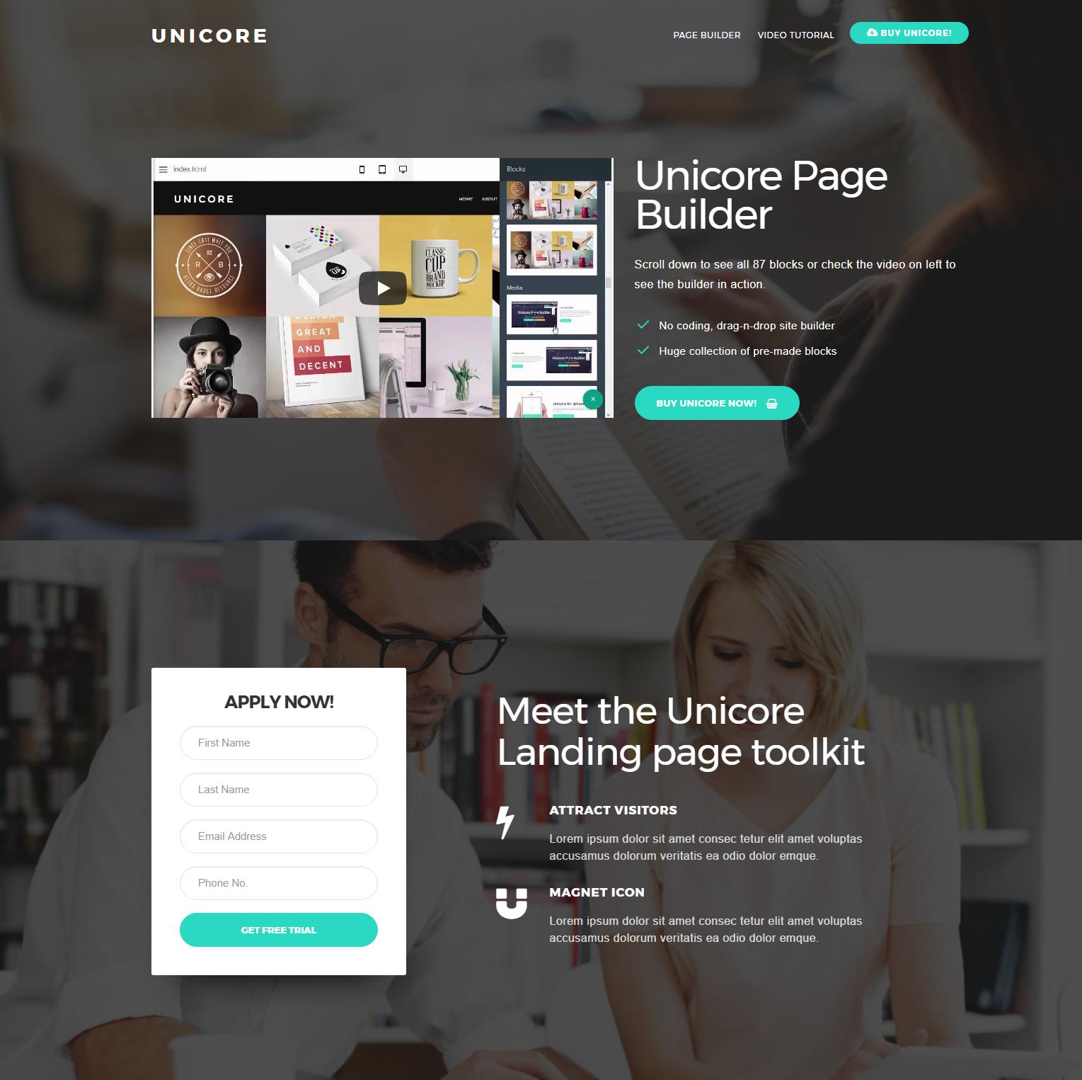 CSS3 Bootstrap Unicore Themes