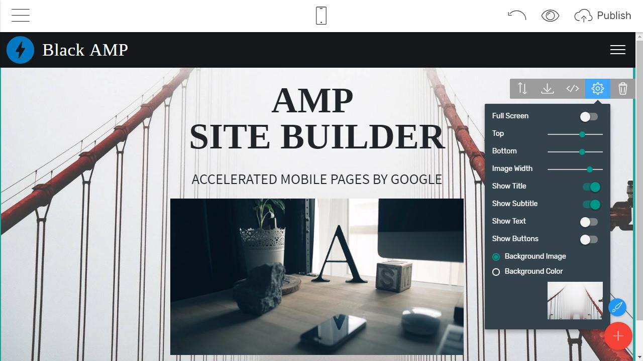 Mobile Webpage Builder