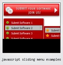 Javascript Sliding Menu Examples